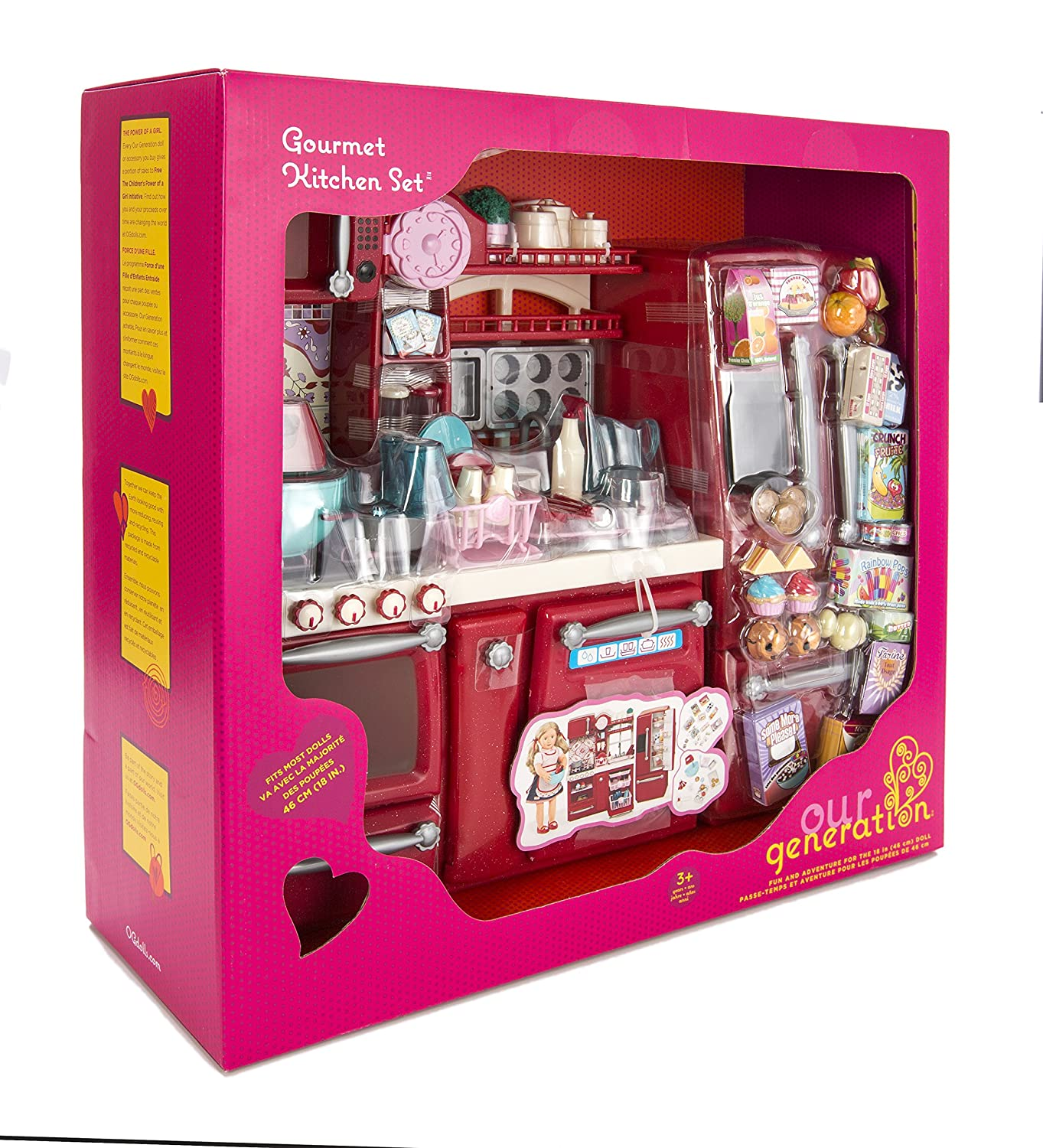 Our Generation Red Kitchen for 18 inch Dolls