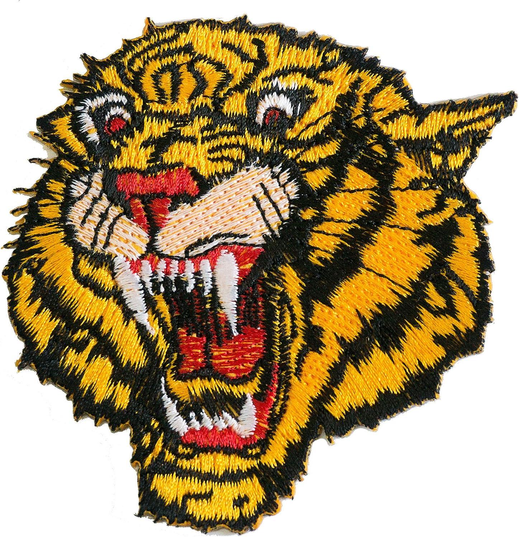 Tiger hierro bordado en coser en parches para Jeans chaqueta por ...