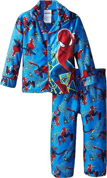New Boys Medium 8 Spider-Man 2 piece pajama set Fleece Pants Marvel