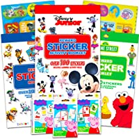Preschool Learning Activities and Flashcards Bundle Pack Featuring Disney Junior, Sesame Street, Paw Patrol and Peppa…