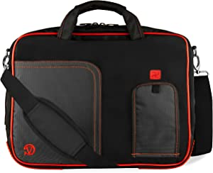"Red Trim Laptop Messenger Bag for Lenovo Legion, Yoga, Flex, ThinkPad, IdeaPad 14"" to 15.6 inch"