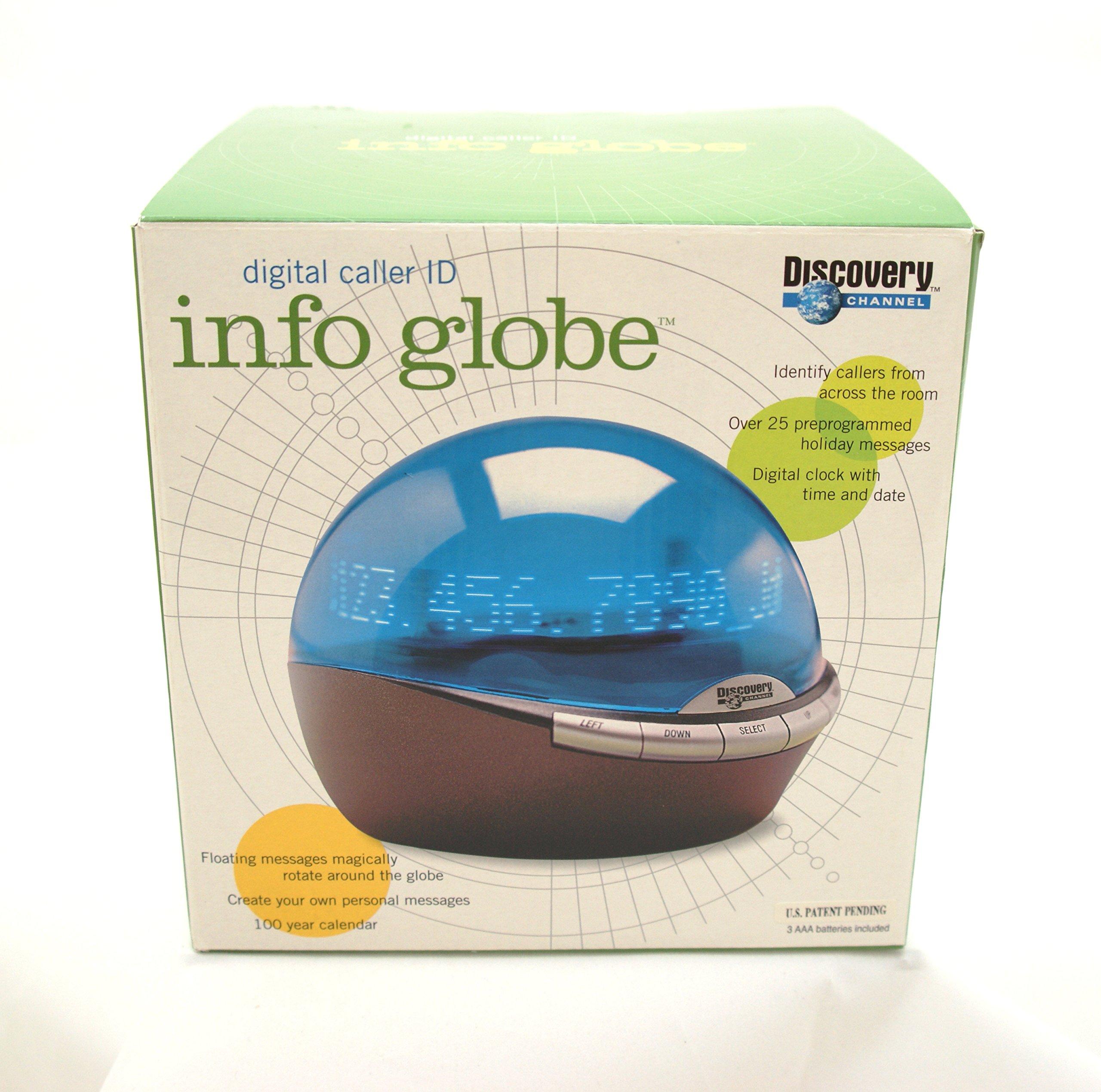 Digital Caller Id Info Globe with Clock
