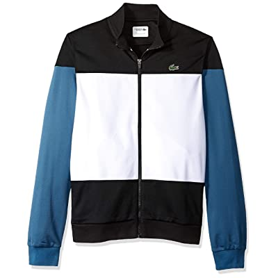 Lacoste Men's Sport Long Sleeve Color Blocked Tricot Jacket at Men's Clothing store