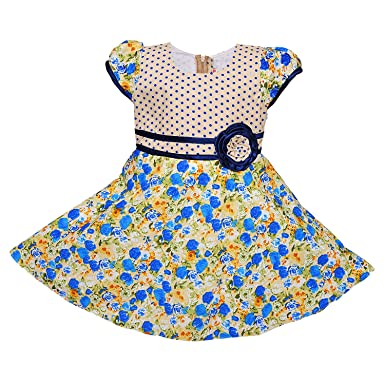 7b1dfd13926f Wish Karo Baby Girls Cotton Frock Dress - (ctn254)  Amazon.in ...