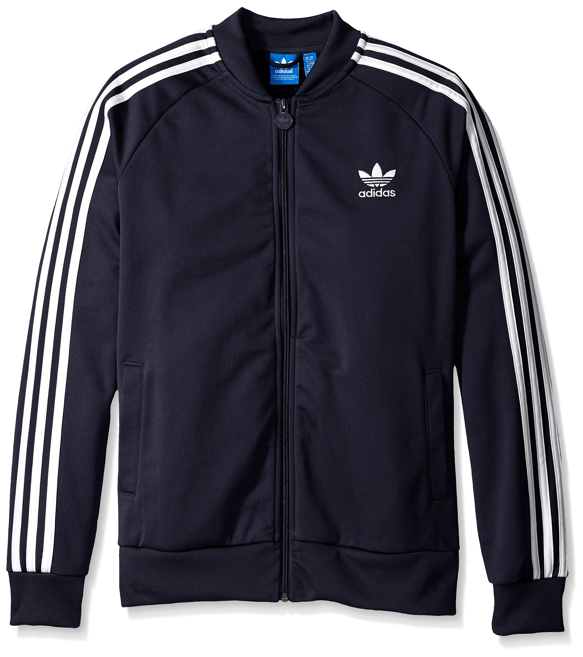 adidas Originals Boys' Superstar Track Top, Legend Ink/White, X-Small by adidas Originals