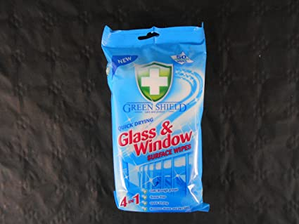 Greenshield Glass and Window Surface Wipes - Pack of 50
