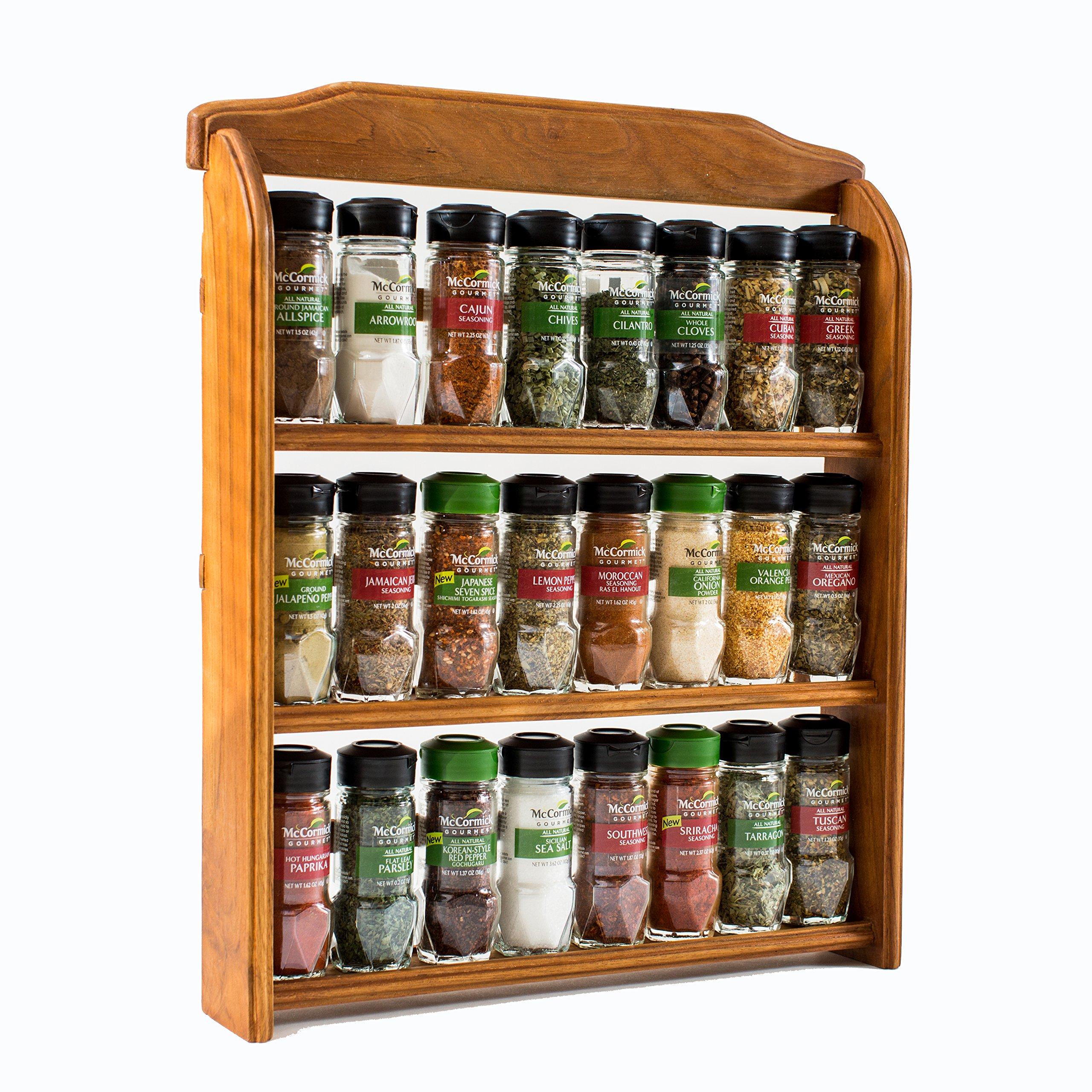 Galleon mccormick gourmet wood spice rack