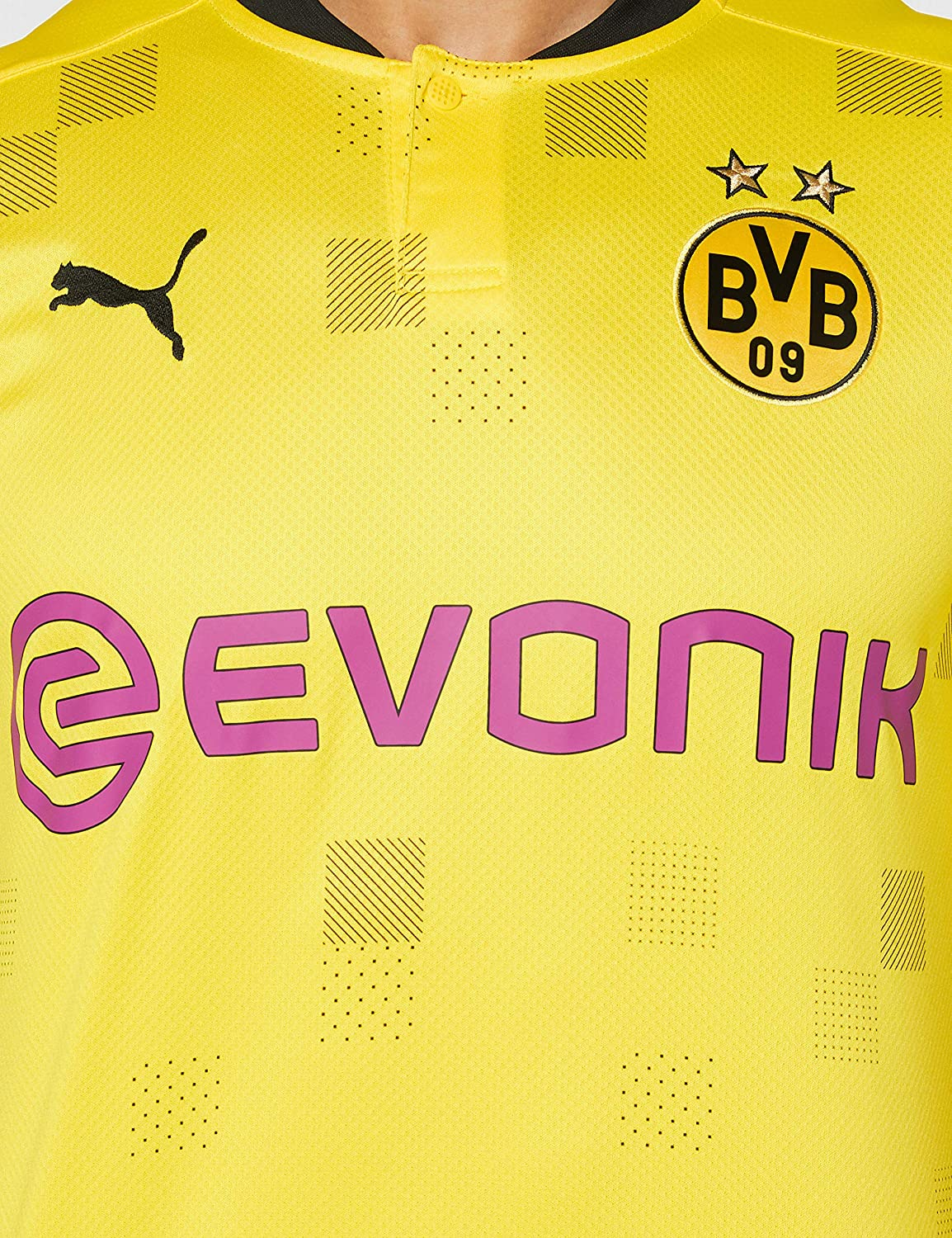 PUMA BVB Cup Shirt Replica SS with Evonik W//O Opel Homme