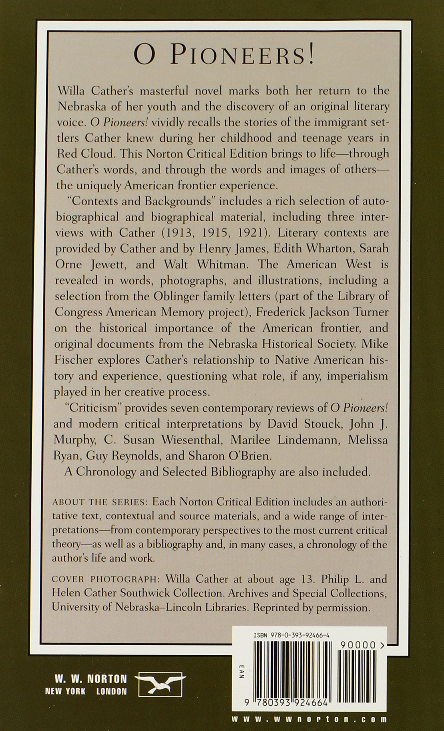 Amazon o pioneers norton critical editions 9780393924664 amazon o pioneers norton critical editions 9780393924664 willa cather sharon obrien books fandeluxe Images