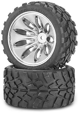 super pas cher extrêmement unique bonne vente Carson 500900047–1 : 10 pneus/Jantes Kit Truggy, modélisme Accessoires,  Chrome