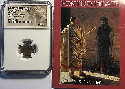 Pontius Pilate 29 AD Judea Jesus Time Rare Authentic Ancient Coin Bronze Prutah