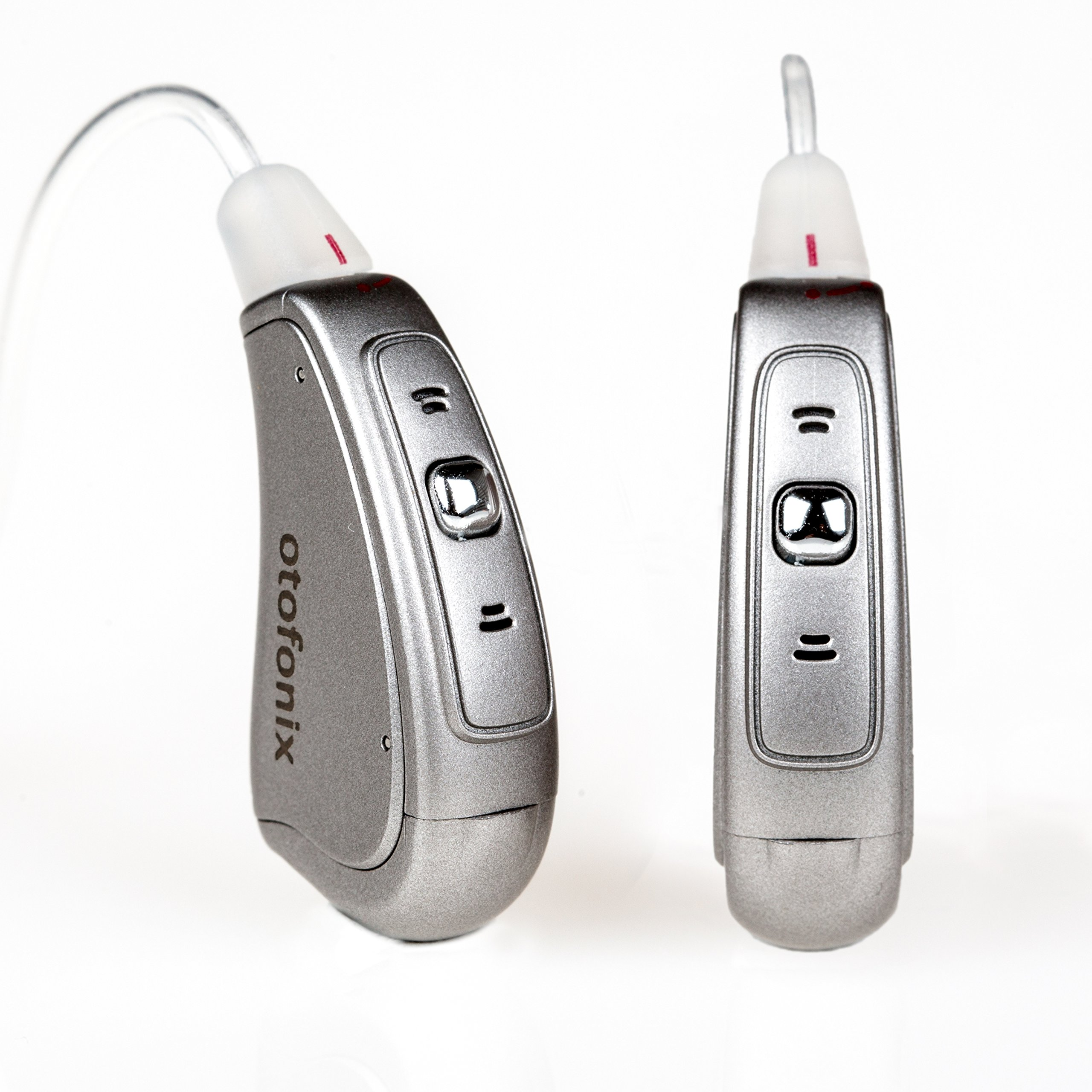 Otofonix Apex Mini Digital Hearing Amplifier to Assist and Aid Hearing for Adults (Pair, Gray)