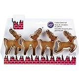 Wilton 2308-5075 4-Piece Christmas Reindeer Metal Cookie Cutter Set, Small