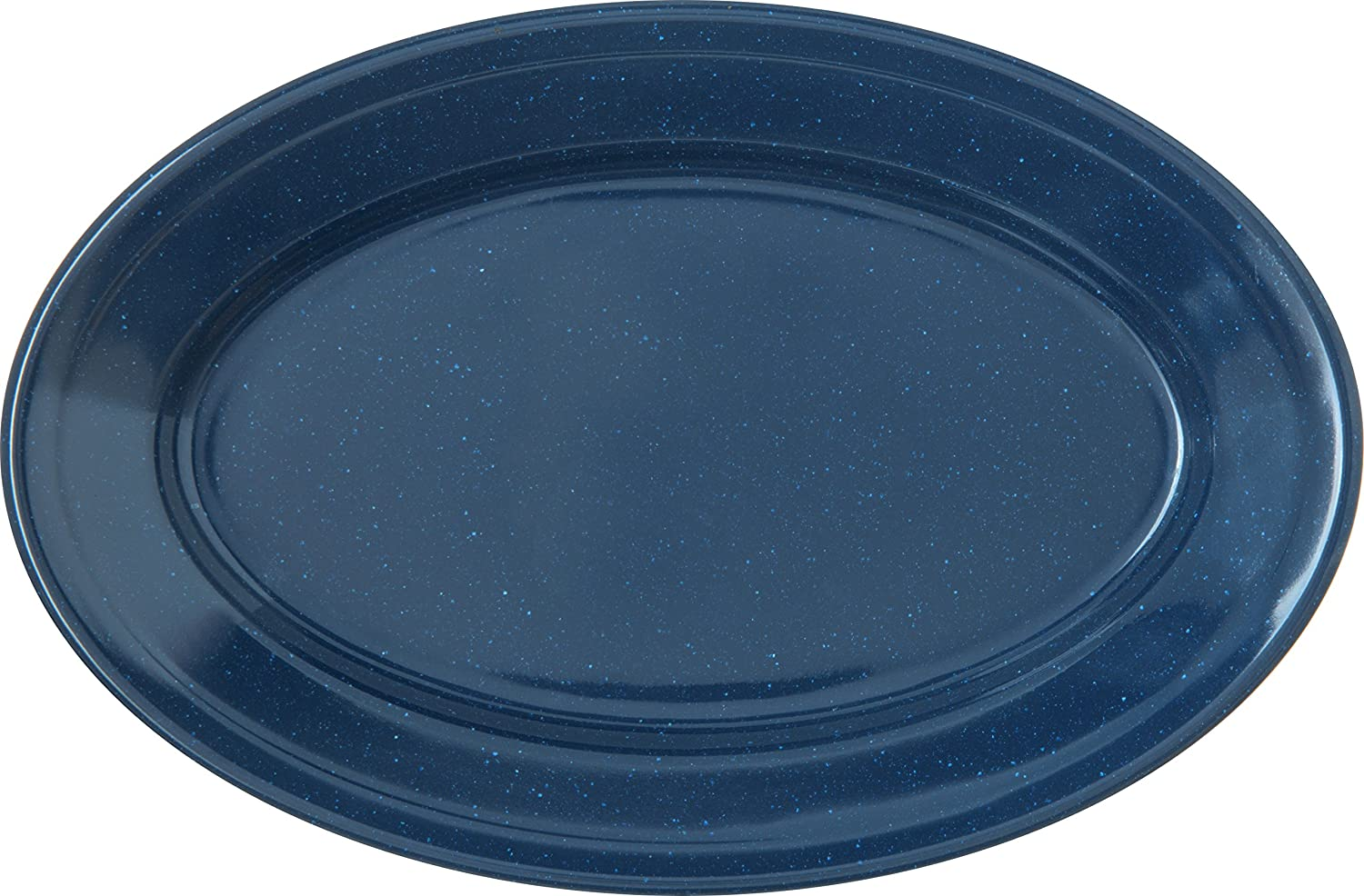 Amazon Com Carlisle 4356335 Dallas Ware Melamine Oval Platter Tray 9 25 X 6 25 Café Blue Pack Of 24 Industrial Scientific