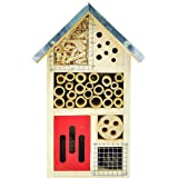 NiteangeL® Wooden Insect House, Perfect Home for Ladybirds and Lacewings, as well as Bees, 25.3 x 15.2 x 8.7 cm