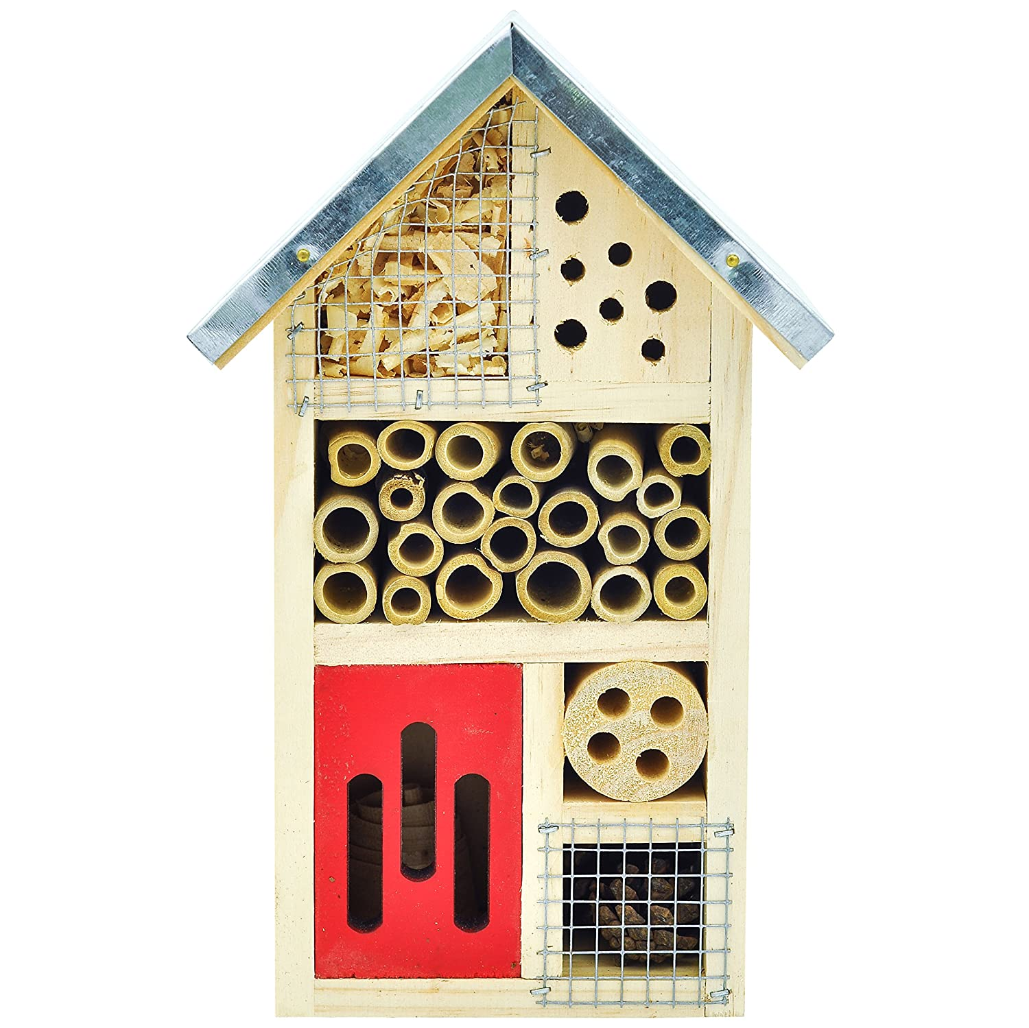 NiteangeL® Wooden Insect House, Perfect Home for Ladybirds and Lacewings, as well as Bees, 10x6x3.5 inch (25.3x15.2x8.7 cm)