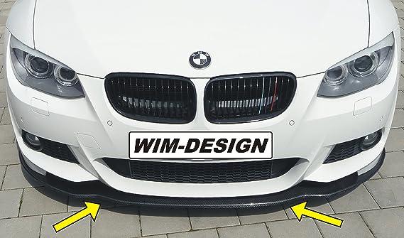 für BMW e90 facelift frontspoiler front lippe splitter flaps lackiert farbe 354