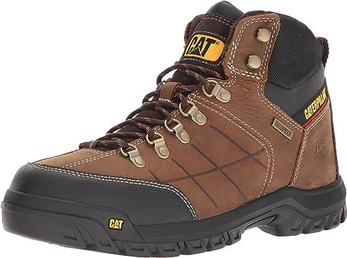 caterpillar men's threshold waterproof industrial boots