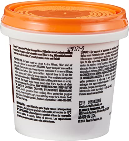 Amazon Com Elmer S Carpenter S Color Change Wood Filler 8 Oz