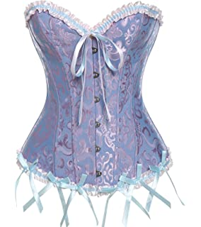 2d94c12303974 MISS MOLY Floral Pleated Trim Bustier Fancy Women Corset Sexy Laced  Lingerie Vintage Underwear with…