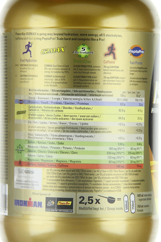 Powerbar Isomax Suplemento, Sabor Blood Orange - 1200 gr: Amazon.es: Salud y cuidado personal