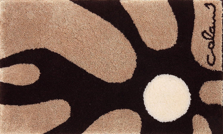 Grund COLANI Exklusiver Designer Badteppich 100% Polyacryl, ultra soft, rutschfest, ÖKO-TEX-zertifiziert, 5 Jahre Garantie, Colani 12, Badematte 70x120 cm, beige