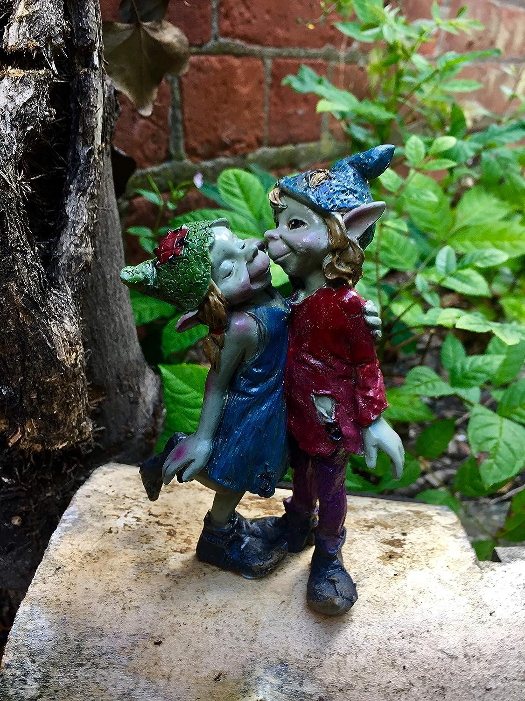Osiris Trading UK Fabulous Pixie Pareja Decoración de jardín Elfo Duende Pixies Decoración Diseño D: Amazon.es: Hogar