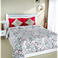 Solimo 100% Cotton Printed Comforter, Double