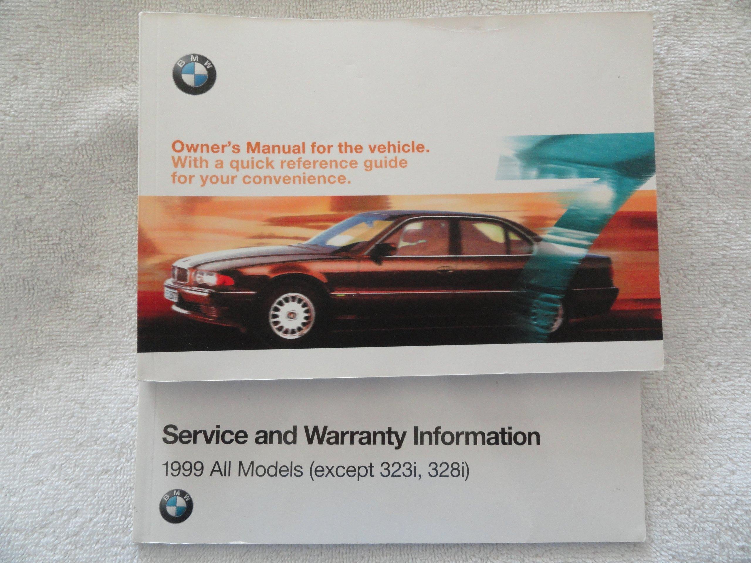 1999 Bmw 740i 740il 750il Owners Manual 740 750 I Il Amazoncom Books