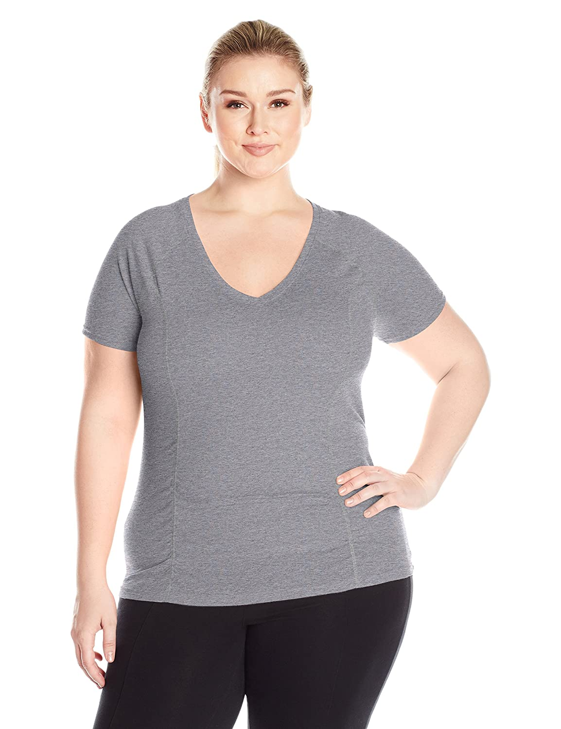 Fruit of the Loom Womens Plus-Size Breathable Shirred T-Shirt PS12372P