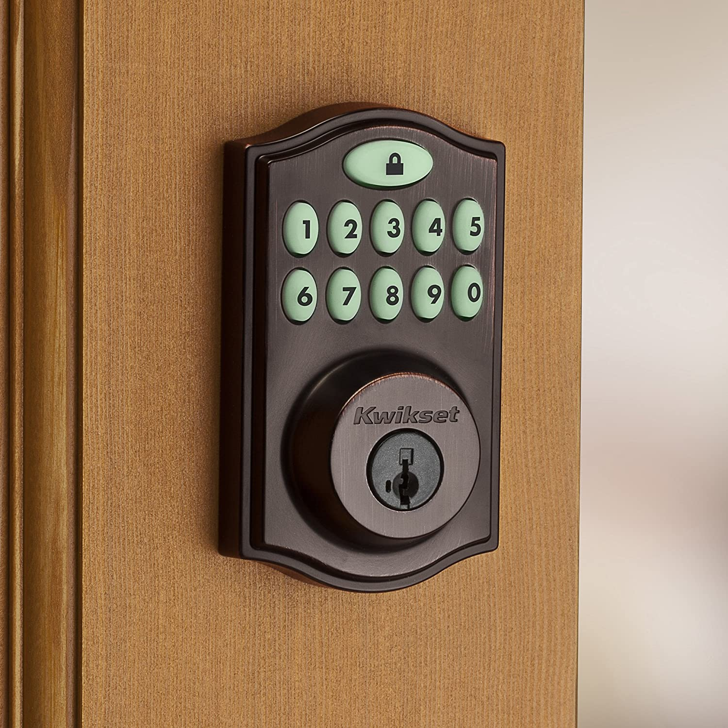 Key Edition /–  Cloud Cam required Compatible with Alexa Kwikset SmartCode 914 Keypad Smart Lock featuring SmartKey in Satin Nickel