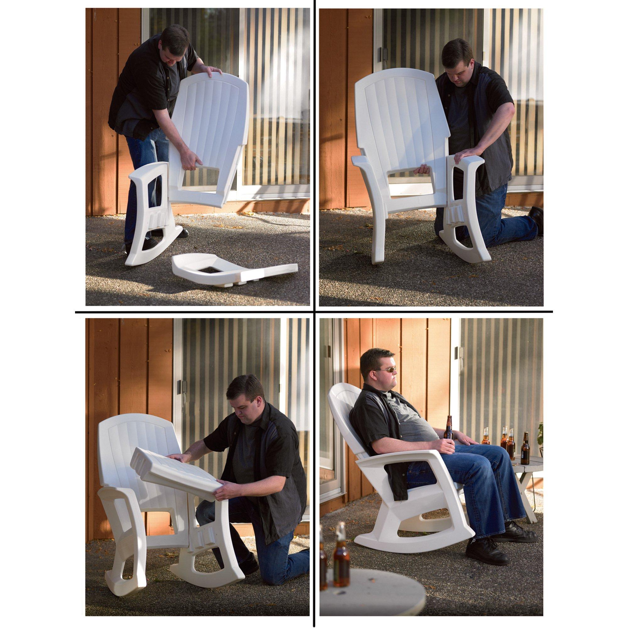 Hunter Green Outdoor Rocking Chair - 600-Lb. Capacity