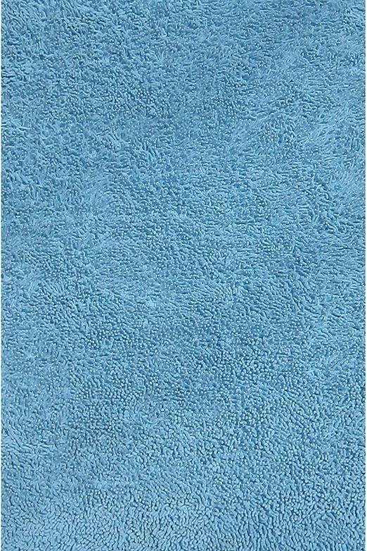 Alfombra de algodón de Pelo Largo, Color Azul Claro, 99 x 147 cm: Amazon.es: Juguetes y juegos