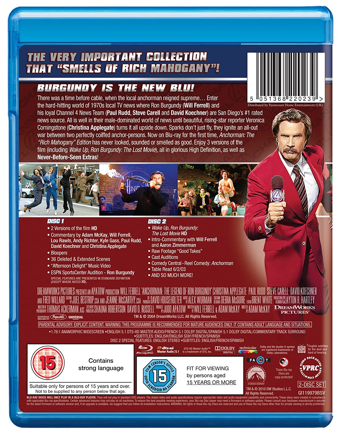 Anchorman: The Legend Of Ron Burgundy Extended Cut Edizione ...