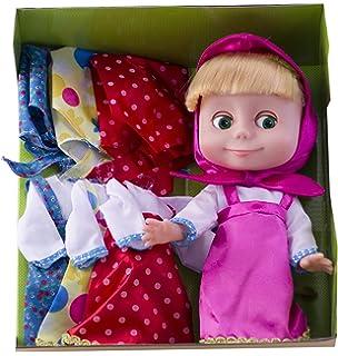 ed0fa7927b21 Russian Doll Masha in a Set of 3 dresses- 9.84 inch Cartoon Masha and the