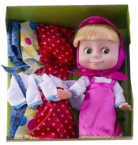 102abd72b69ba Russian Doll Masha in a Set of 3 dresses- 9.84 inch Cartoon Masha and the  Bear
