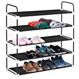 Amazon Price History for:5 Tiers Shoe Rack, MaidMAX 5-Shelf Metal Frame Nonwoven Space Saving Shoe Tower Cabinet Free Standing Storage Organizer Shelf for 25 Pairs of Shoes, Black, 36.4'' Height