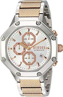Versus by Versace Mens Kowloon Quartz Watch with Two-Tone-Stainless-Steel Strap