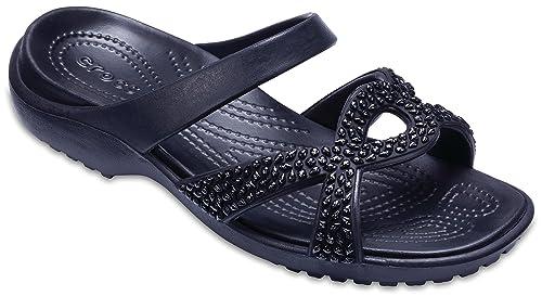Crocs Womens Meleen Twist Diamante Sandal Black Black Sandal Fashion Sandals at amazon