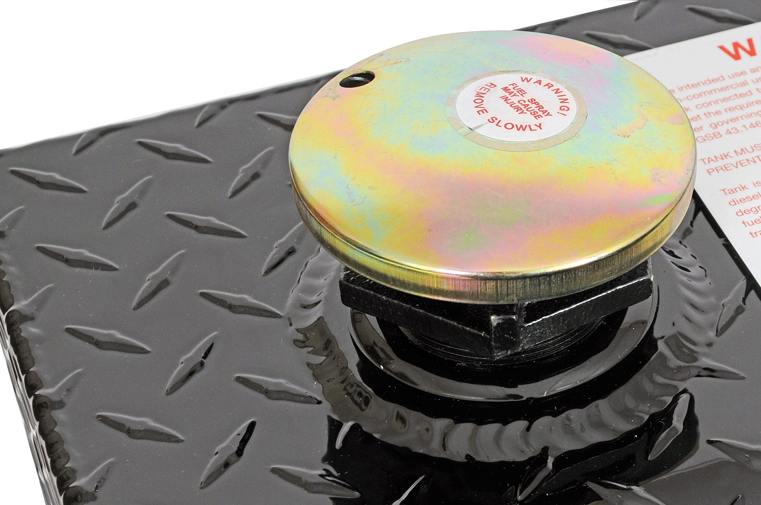 Dee Zee DZ91741XB (80 gallon) Auxiliary Diesel Combo Transfer Tank & Tool Box - Black Aluminum by Dee Zee (Image #5)