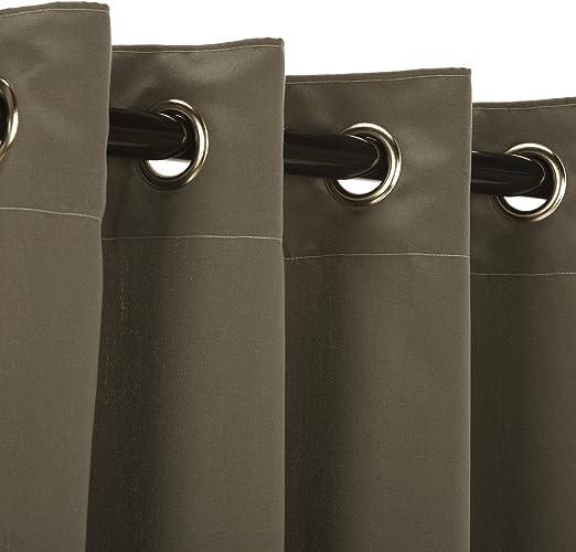 Sunbrella exterior cortina, níquel con ollados, (disponible en ...