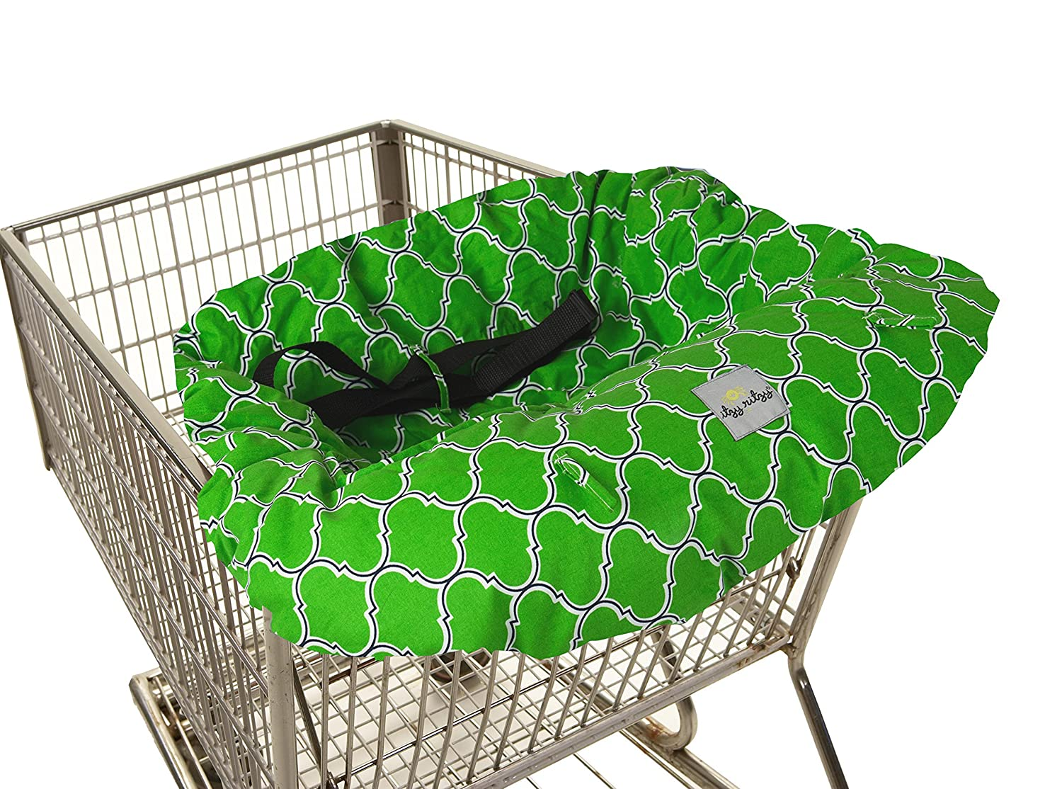 Itzy Ritzy Sitzy Shopping Cart and High Chair Cover  Emerald Trellis GC8095