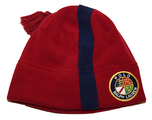 Ralph Lauren Polo Mens Fleece Ski Tassel Skull Beanie Hat Cap Red Navy Blue  L XL  Amazon.ca  Clothing   Accessories fc8e8219c6ab