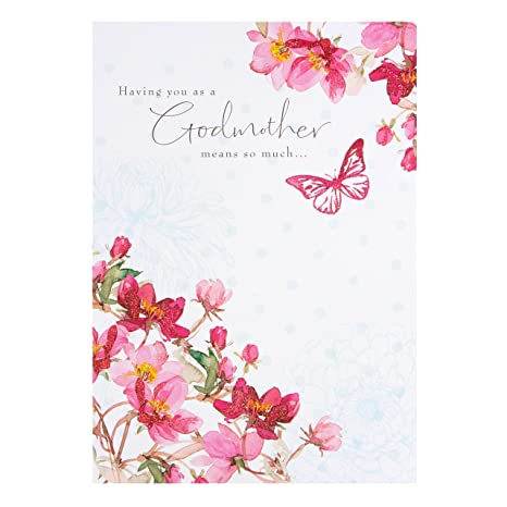 Amazon Godmother Birthday Card By Hallmark Office Products