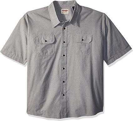 Wrangler Hombre Manga corta camisa - Verde - 3X-Large: Amazon.es: Ropa y accesorios
