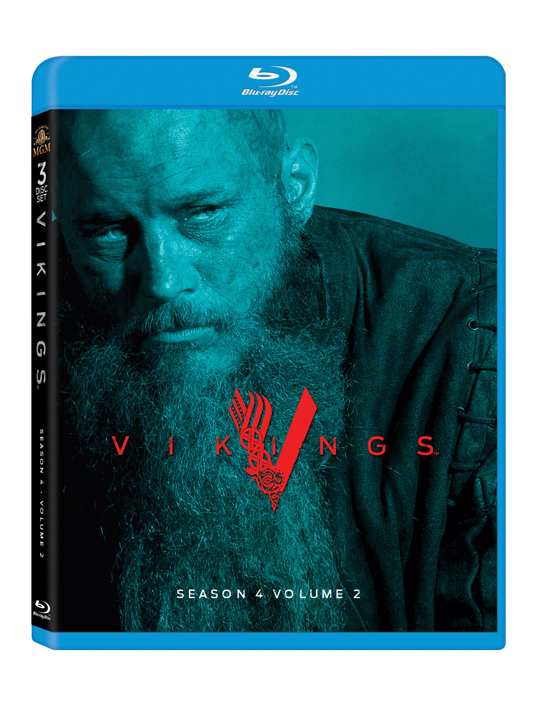 Blu-ray : Vikings: Season 4 Volume 2 (3 Pack, Dubbed, , Widescreen, Dolby)