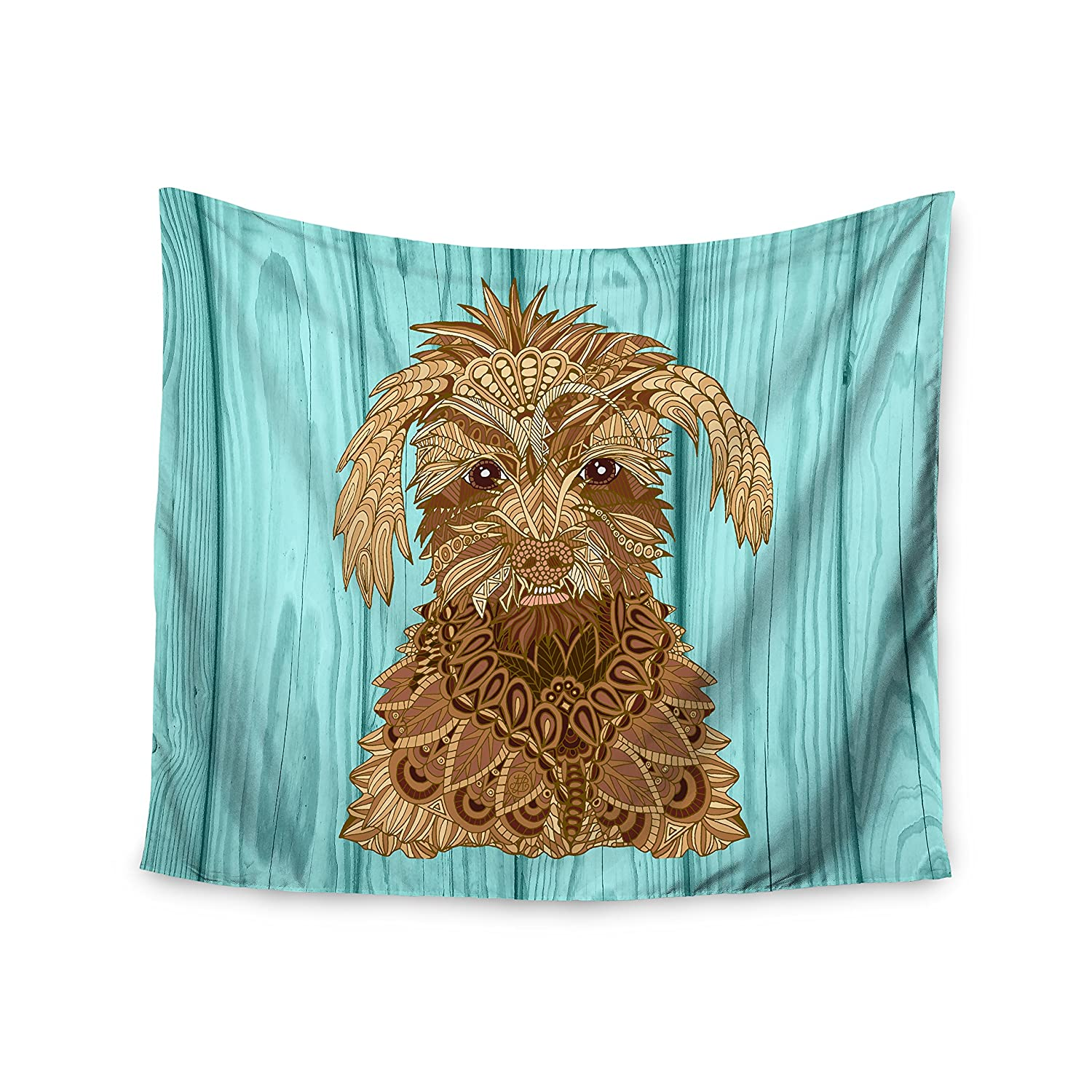 Kess InHouse Art Love Passion Gatsby The Great Brown Dog Wall Tapestry 51 X 60