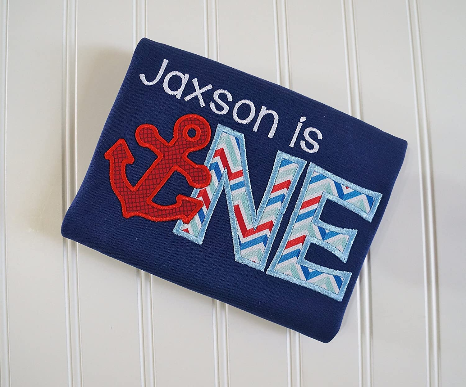 Marine anchor flag yachting word nautical embroidery