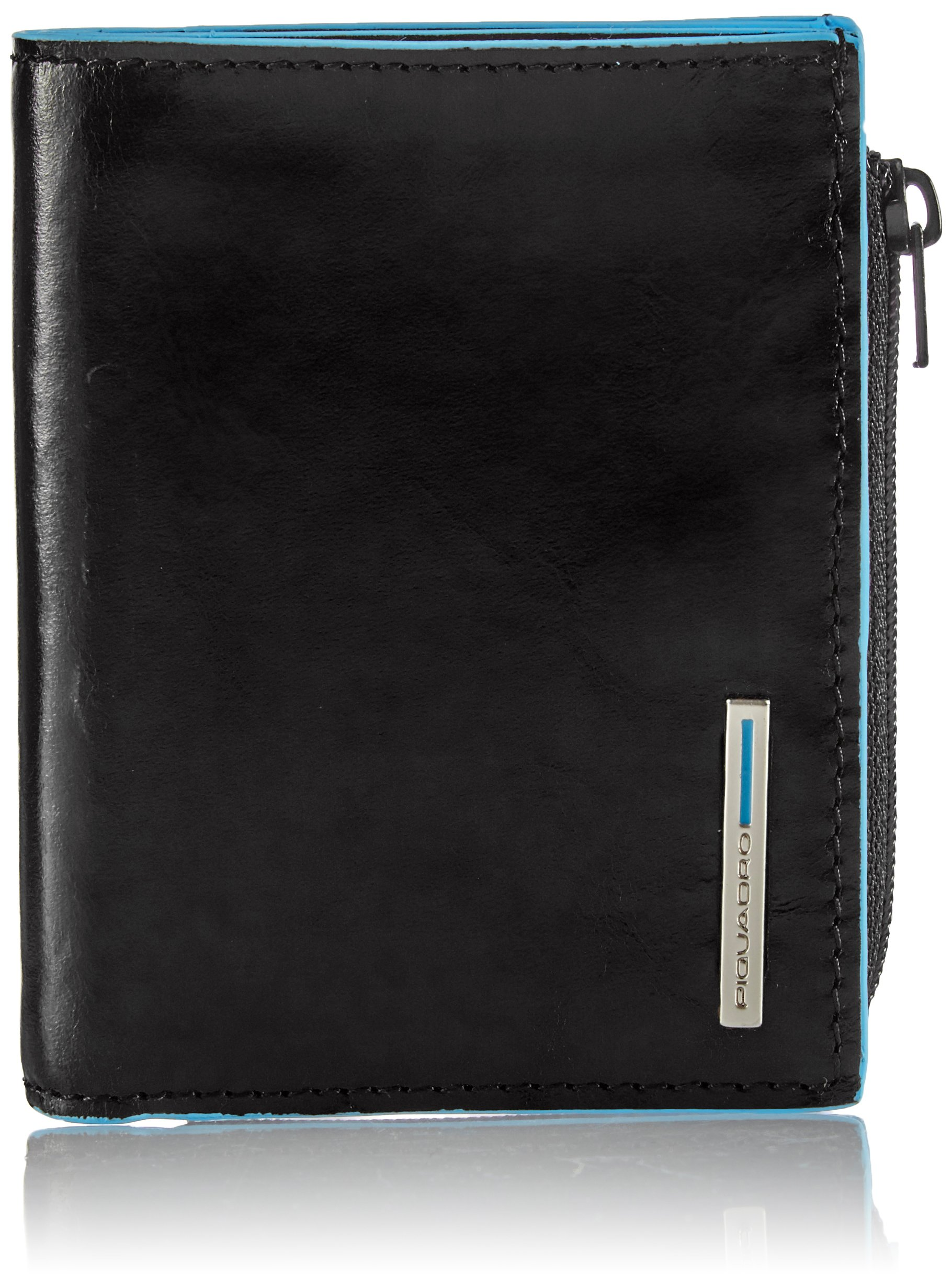 Piquadro Pocket Wallet In Leather, Black, One Size