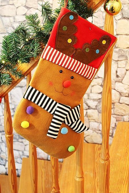 XXL Reno – nikolausstrumpf/calcetín de Navidad/Botas de Papá Noel/calcetines de